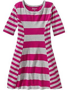 Girls Mixed Stripe Dresses   Old Navy