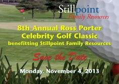 """""""Save The Date"""" Postcard for Stillpoint Family Resources' Annual Golf Tournament. Designed by Russell Paris at JRP Graphics, July"""