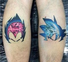Epic DBZ tattoos, Planet Vegeta and Earth