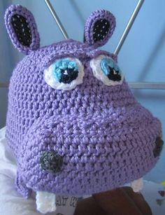 Harper the Hippo in all sizes Crochet Pattern by boomerbeanies, $4.99