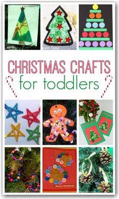 Christmas Crafts for toddlers. lots of great Christmas craft ideasxto get toddlers and babies crafting at Christmas and produce some lovely keepsakes.