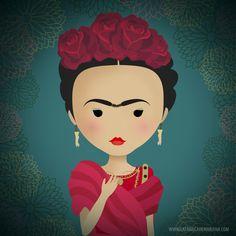 ilustración frida kahlo by Yoana Figueras (La Fábrica de Mariana)