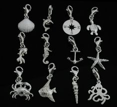 Sterling Silber Charms Meer Maritim Clip On Charm für European Armband Jewelry Bracelets, Jewelry Watches, Clip On Charms, Nautical, Fine Jewelry, Charmed, Drop Earrings, Sterling Silver, Personalized Items