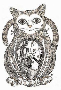zentangle-cat