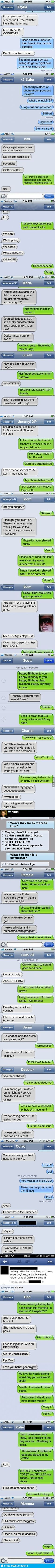 I just cried reading these!!' Funniest AutoCorrects Of 2012. lol'd the entire time.