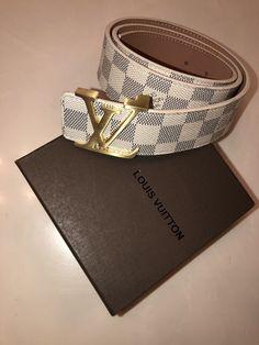 93e72b1fa1d1 NEW Authentic Mens Louis Vuitton Damier Azur Belt LV Initiales 40mm 105cm  30-34  fashion  clothing  shoes  accessories  mensaccessories  belts (ebay  link)