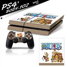 One Piece PS4 hauptmaschine+controller FOLIEN-SKIN