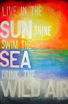 my ralph waldo painting! #sunshine #ocean #emerson