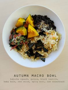 autumn macro bowl.