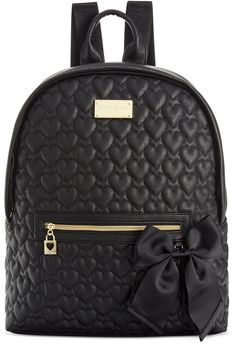 Betsey Johnson Macy s Exclusive Quilted Backpack Backpack Purse 6ef560d630a57