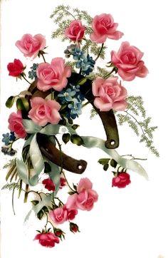 rose's card,cartão com rosas Vintage Cards, Vintage Paper, Vintage Postcards, Vintage Images, Art Floral, Flower Images, Flower Art, Vintage Flowers, Vintage Floral