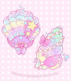 sugarcoatedunicorns: I had a request/suggestion to draw some pretty pastel seashells so here they are! <3