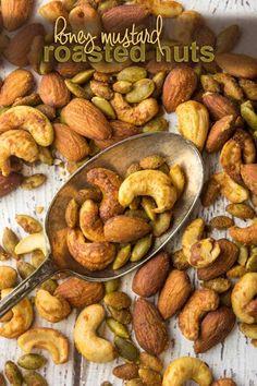 Paleo Honey Mustard Roasted Nuts — Foraged Dish @ForagedDish