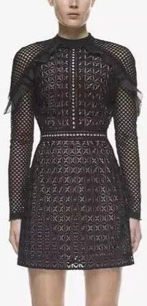 Geometric Mini Dress Black
