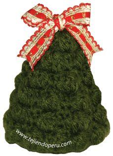 árbol de Navidad tejido a crochet . Christmas tree