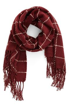 Free shipping and returns on BP. Stitched Grid Scarf at Nordstrom.com. A stitched grid stands out on a chic burgundy scarf trimmed in long, swingy fringe.