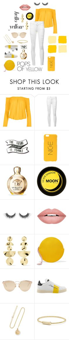 """you are my ☀️ sunshine"" by obsessedbug ❤ liked on Polyvore featuring Venus, Frame, Versace, Forever 21, Ippolita, Roksanda, Christian Dior, Dolce&Gabbana, Grace Lee Designs and David Yurman"