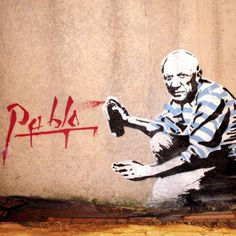 Picasso Street Art by Señor X