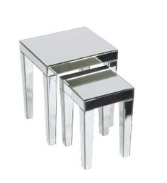 Amazon.com: Ave Six REF19-SLV Reflections Nesting Table: Kitchen & Dining