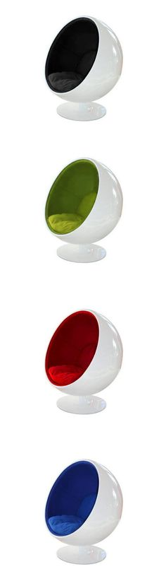 Ball Chair by Eero Aarnio. An iconic swivel armchair which became popular during the Sixties: when even furniture liked to rock and roll.