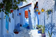 Tucked in the north of Morocco, there is a small town called Chefchaouen. This unusual place can be safely called a 'blue dream,' since the old part of it is filled with buildings painted in all shades of blue — from baby blue to aquamarine.