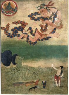 Indian Adept (siddha) - Ghantapa - Rubin Museum of Art - Eastern Tibet - Palpung / Situ Tibetan Mandala, Tibetan Art, Tibetan Buddhism, Painting Gallery, Painting Prints, Paintings, Tantra Art, Complex Art, Nepal