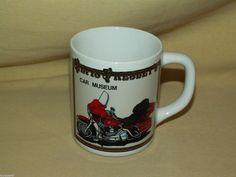 ELVIS MUG PRESLEY CAR MUSEUM RED MOTORCYCLE GOLD BLACK JAPAN CUP SOUVENIR BIKE