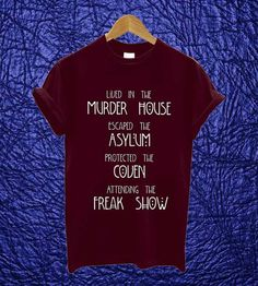 American Horror Story Shirt Black Maroon White by AlangAlang