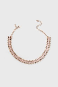 Pastel Pink Sparkle Choker Necklace - View All Holiday - Holiday - Wallis