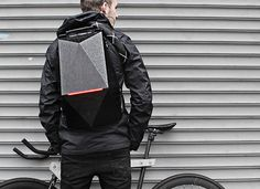 Blackpack by William Root. Inspired by a turtles protective shell, the Blackpack incorporates clever innovative features to protect you and your belongings from the dangers of the urban environment.
