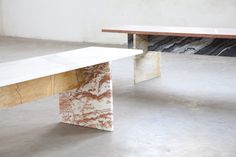Muller Van severen:Marble Bench — Thisispaper — What we save, saves us.