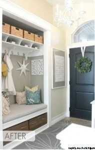 coat closet transformed into entry nook