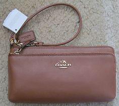 Coach 52636 Leather Large Double Zip Wallet/Wristlet NWT