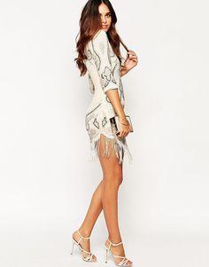 e621ae03b7 Maya Petite Embellished Shift Evening Dress With Hem Detail UK 10 EU 38 US 6