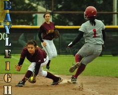 New Boston Lady Lion, #3 Bayleigh Garcia is a Freshman playing first base in a rotation.