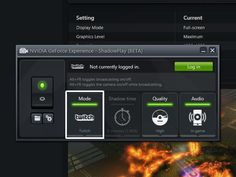 Nvidia's Shadowplay adds Twitch.TV streaming support