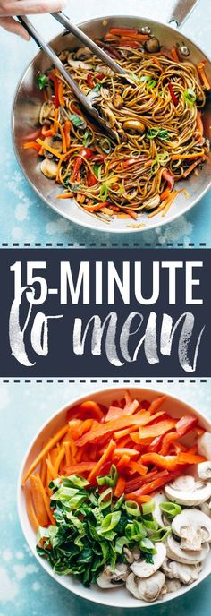 15-Minute Lo Mein! A super easy go-to for a quick Asian noodle stir fry that comes together in just 15 minutes.
