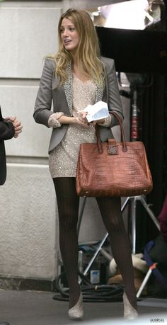 I love this gray blazer worn by 'Serena' on Gossip Girl.