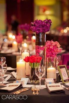 Exquisite Designs designed such fun floral for the Chicago Opera Theater annual Gala at Carnival