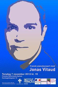 #Concert with Jonas Vitaud  #piano #design  #stockholm #sthlm #frenchartist #ifsuede #frenchinstitute #francais #institutfrancais #franskainstitutet #poster #affiche
