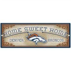 WinCraft Denver Broncos Home Sweet Home Wood Sign