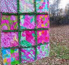 Lilly Pulitzer Rag quilt throw for your Minnie by dmaeredesigns, $149.00