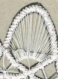 om point lace spets och adhd: hur börjar man jobba med spetsen i bilder Freeform Crochet, Irish Crochet, Crochet Lace, Crochet Stitches, Beaded Flowers Patterns, Lace Patterns, Crochet Patterns, Embroidery Hearts, Ribbon Embroidery