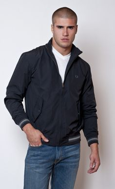 Micro Fiber Jacket in Black by Fred Perry