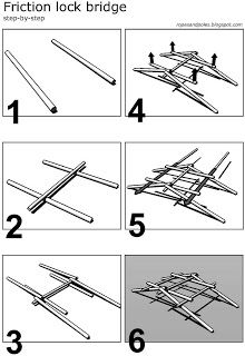 Ropes and Poles: Simple Friction Lock 'Bridge' - Instructions