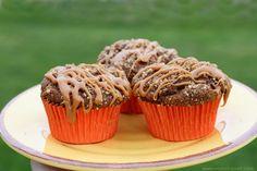 Gluten Free Caramel Crumble Pumpkin Muffins--pretty high in fat, sugar, calories, but interesting recipe and blog