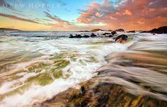 The Incoming Tide  by ~drewyboy  (Sawtell Beach, Australia)