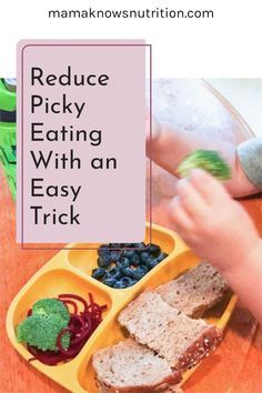 Wish your picky eater would try new foods? This picky eating tip can open doors for your toddler to break away from the few foods they love and taste something new. Baby steps is the key! I'm a Registered Dietitian Nutritionist who specializes in toddler nutrition and have helped hundreds of families improve picky eating. #pickyeating #toddlerfood #parentingtips Healthy Meals For Kids, Kids Meals, Toddler Meals, Toddler Food, Toddler Nutrition, Registered Dietitian Nutritionist, Good Food, Fun Food, Baby Steps