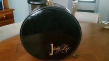 "Vintage Judy Lee Jewelry Hat Box 14"" Black Gold Round Train Case Munro Zipper Hat Boxes, Train Case, Vintage Travel, Black Gold, Decorative Plates, Zipper, Lady, Jewelry, Jewlery"