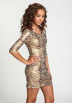 Baroque Sequin Party Dress